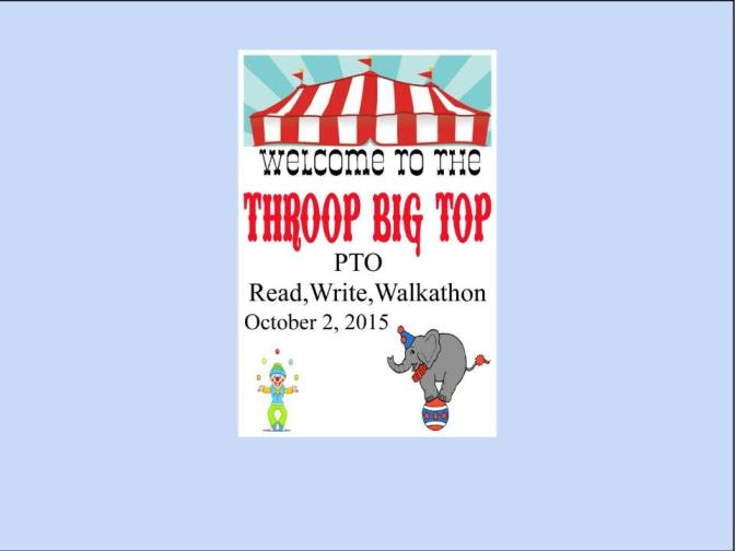 Read, Write and Walk-a-Thon